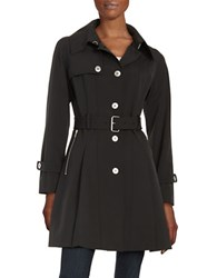 Trina Turk Lillian Pleated Trench Coat Black