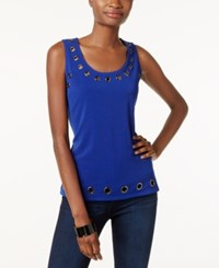 Inc International Concepts Embellished Tank Top Only At Macy's Goddess Blue