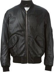 Mcq By Alexander Mcqueen Mcq Alexander Mcqueen Perforated Bomber Jacket Black