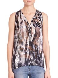 The Kooples Zebra Burnout Tank