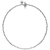 Dower And Hall Sterling Silver Caraway Rice Necklace Silver