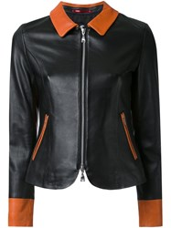 Loveless Leather Zip Jacket Black