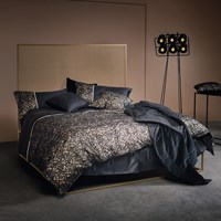 La Perla Margherita Duvet Cover Black And Sand Super King