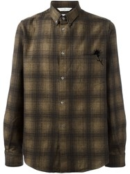 Golden Goose Deluxe Brand Checked Shirt Brown