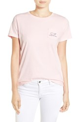 Vineyard Vines Women's Whale Graphic Short Sleeve Pocket Tee Flamingo