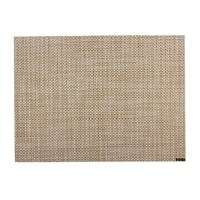 Chilewich Basketweave Rectangle Placemat White Gold