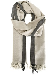 Golden Goose Deluxe Brand Two Tone Scarf Nude And Neutrals
