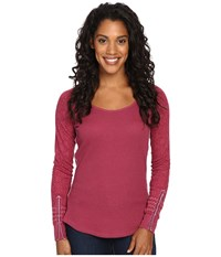 Kuhl Alva Thermal Claret Swirl Women's Long Sleeve Pullover Red