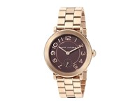 Marc Jacobs Riley Three Hand Watch Rose Gold Tone Watches