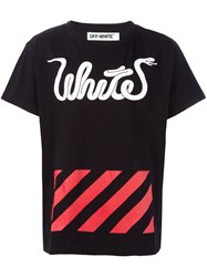 Off White Multi Print T Shirt Black