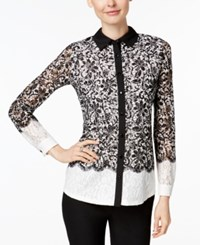 Charter Club Lace Shirt Only At Macys Vintage Cream Combo