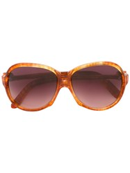 Yves Saint Laurent Vintage Oversized Frame Sunglasses Brown