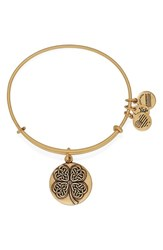 Women's Alex And Ani 'Four Leaf Clover' Bangle Bracelet Gold