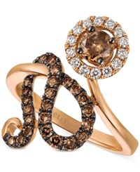 Le Vian Chocolatier Diamond Floral Statement Ring 1 Ct. Tw. In 14K Rose Gold