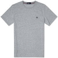 Fred Perry New Classic Crew Neck Tee Vintage Steel Marl