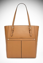 Forever 21 Faux Leather Tote Bag Camel