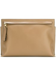 Loewe Signature 'T' Pouch Nude And Neutrals