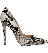 Office Betty Snake Embossed Leather Courts Natural Snake