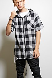 Forever 21 Victorious Hooded Flannel Shirt
