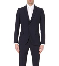 Reiss Attila Slim Fit Woven Blazer Navy