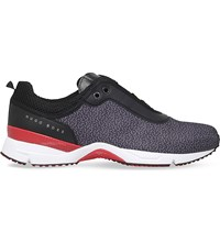 Hugo Boss G Velocity Patterned Woven Trainers Black