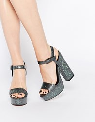 Asos Hit The Jackpot Heeled Sandals Holographic