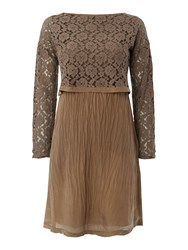 La Fee Maraboutee 2 In 1 Dress Top And Long Sleeves Brown