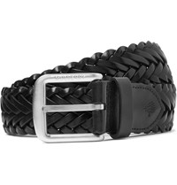 Mulberry 4Cm Black Woven Leather Belt Black