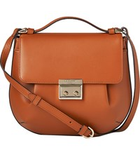 Lk Bennett Hilda Leather Cross Body Bag Tan Tan