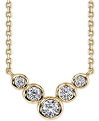 Sirena Energy Diamond Frontal Necklace 1 4 Ct. T.W. In 14K White And Yellow Gold