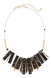 Sole Society Women's Geo Stone Statement Necklace Gold