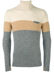 Roberto Collina Colour Block Pullover Grey