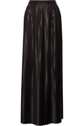 By Malene Birger Doha Pleated Charmeuse Maxi Skirt Black