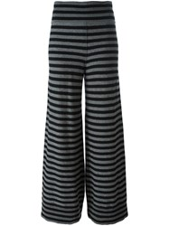 Sonia Rykiel Striped Knit Trousers Black