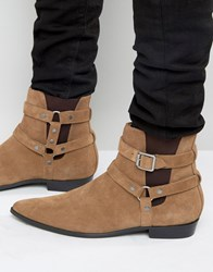 Religion Belter Suede Boots Tan