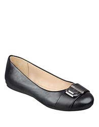 Easy Spirit Gianetta Leather Ballet Flats Black