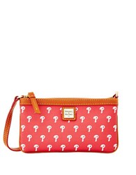 Dooney And Bourke Phillies Large Slim Wristlet Red