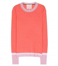 Roksanda Ilincic Wool Silk And Cashmere Blend Sweater Red