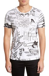 Men's Hugo 'Dreetart Graffiti' Slim Fit Graphic T Shirt