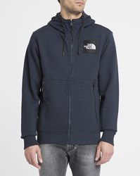 The North Face Navy Side Logo Hooded Sweatshirt Blue