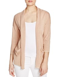 Finity Shimmer Cardigan Peach Metallic