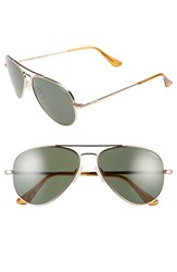 Women's Randolph Engineering 'Concorde' 57Mm Aviator Sunglasses Rose Gold