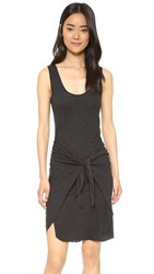 Lanston Tie Front Dress Black