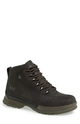 Helly Hansen Men's 'Berthed 3' Waterproof Leather Boot Jet Black Espresso Gum