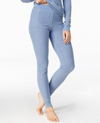 Cuddl Duds Thermal Leggings Heather Blue