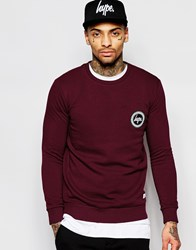 Hype Sweatshirt With Crest Logo Red