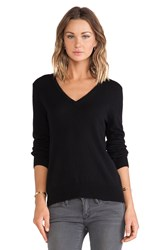 Equipment Cecile V Neck Sweater Black