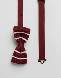 Selected Knitted Bow Tie Red
