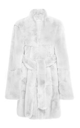Ryan Roche Rabbit Fur Coat White