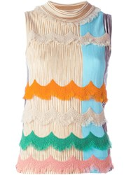 Missoni Scalloped Fringe Knitted Blouse Multicolour